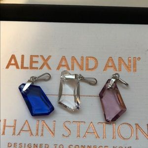 NWOT Alex and Ani Pendents with Swarovski